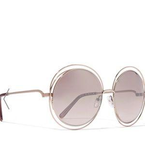 Chloe Accessories - Chloe Carlina gold round glasses. Like new.